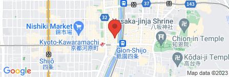 地図 博多もつ鍋 やまや 京都木屋町店