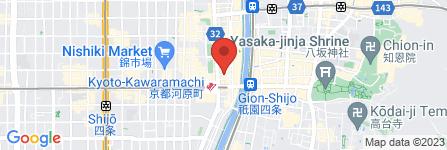 地図 本格もつ鍋 博多屋 京都店