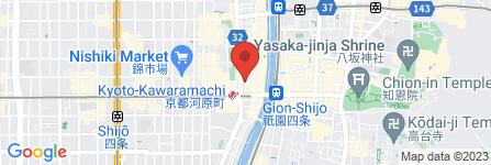 地図 カプセルホテル GLANSIT KYOTO KAWARAMACHI
