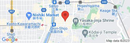 地図 着物レンタル  京都彩スター