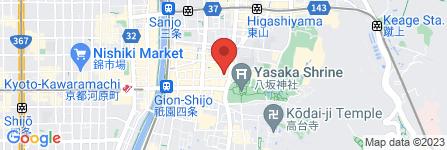 地図 祇園芸妓組合