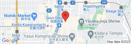 地図 祇園 晩餐 京色