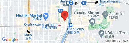 地図 大詔閣 四条店