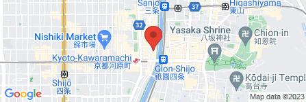 地図 辛麺屋 桝元 木屋町店