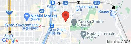 地図 京都 祇園店 着物レンタル  梨花和服