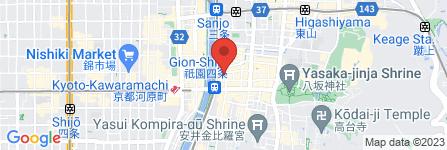 地図 京都祇園 よもぎ蒸し温活サロン LILB