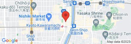 地図 ココカラファイン 四条河原町店