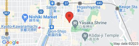 地図 くすりのライフライン祇園店