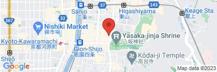 地図 gion K 京都 祇園