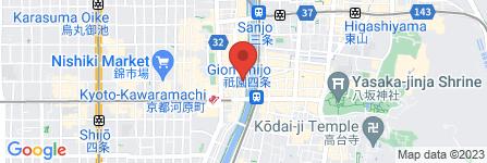 地図 柚子元 京都先斗町店