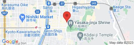 地図 花新 祇園本店