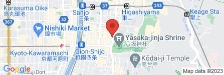 地図 祇園東 お茶屋組合