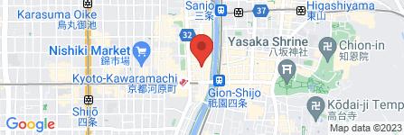 地図 ハイビスカス食堂 海と空 木屋町店