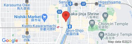 地図 先斗町 あじ屋
