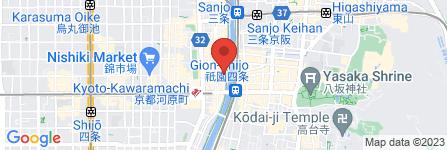地図 先斗町 鮨くいじーぬ しゃり