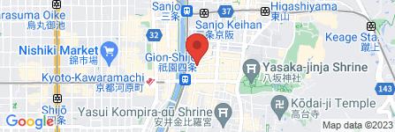 地図 タナカコーヒ 祇園店