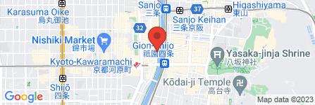 地図 先斗町 烹祥庵