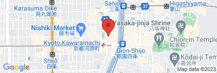 地図 i-nails  四条河原町店