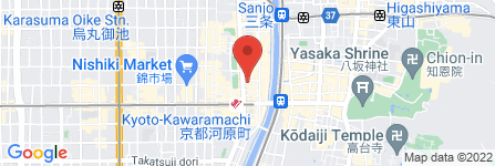 地図 EVER GRACE BIGAN  河原町店