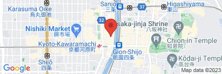 地図 コスモス 木屋町店