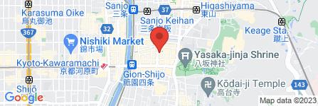 地図 祇園 つた屋