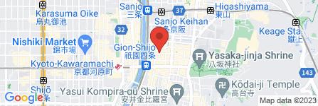 地図 お茶屋ダイニング 祇園かにかくに