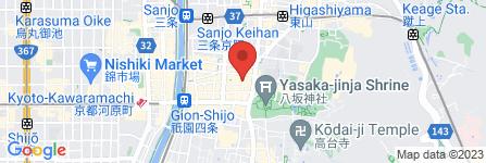 地図 祇園酒羽 焔  HOMURA