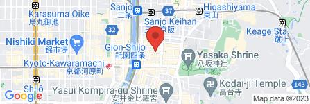 地図 祇園 びとら、
