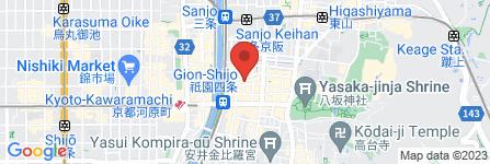 地図 京都ブライダルサロン ぎおん