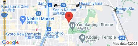 地図 鱧秀 知恩院前店