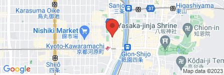 地図 ファミリーマート 四条河原町店
