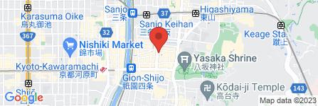 地図 カラオケディナーショー sound 祇園店