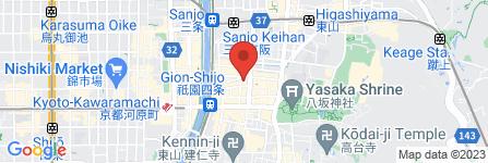 地図 地鶏専門店かしわ 祇園豆六小路店