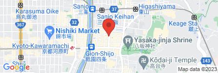 地図 天下一品 祇園店