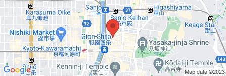 地図 しぐれ茶屋 侘助 京都ぎをん店