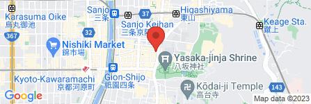 地図 GION BAR JOKER