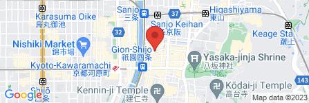 地図 熊の焼鳥 祇園白川