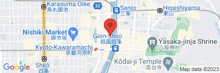 地図 かっぱ寿司 先斗町店