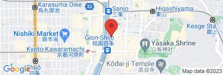 地図 京都衹園屋