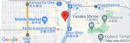 地図 京都屋台風麺場 一力