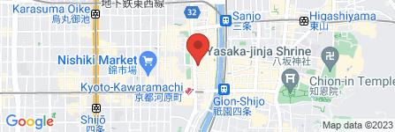 地図 土間土間 河原町蛸薬師店