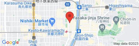 地図 月のあかり 河原町店