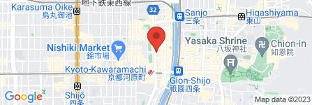 地図 くらうど 四条河原町店