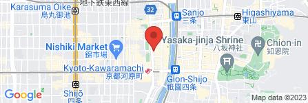 地図 しゃぶしゃぶ温野菜 京都河原町蛸薬師店