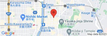 地図 ステーキ花郷 祇園店