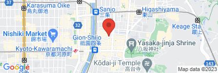 地図 THE JAPONAIS GION
