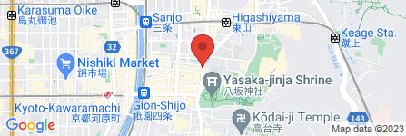 地図 京都きものレンタル 麗