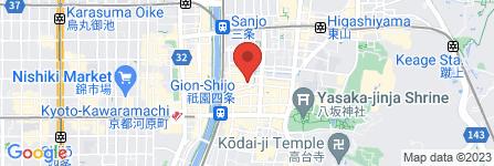 地図 衹園新橋  梅庵