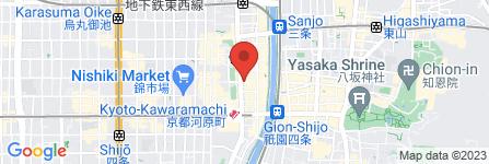 地図 gram 京都河原町店