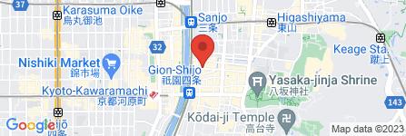 地図 白碗竹カイ樓 祇園店